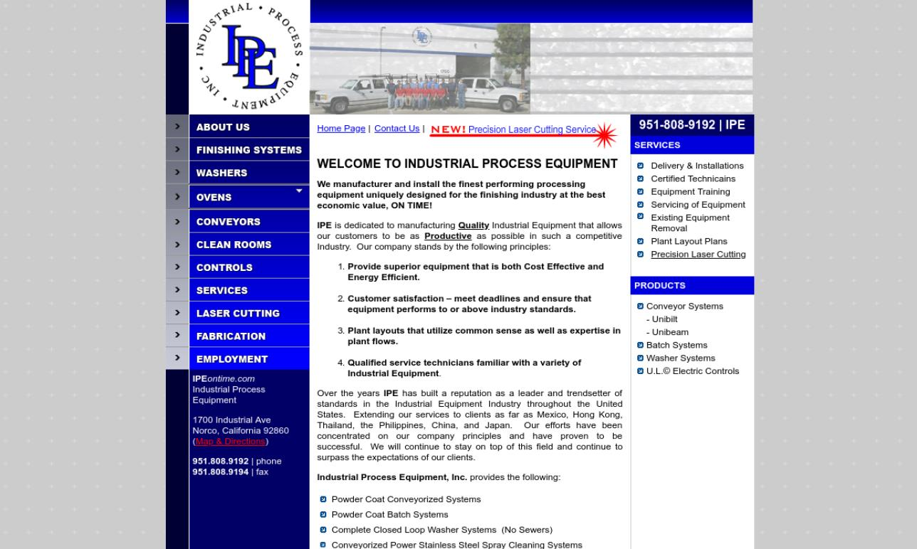 Industrial Process Equipment, Inc.